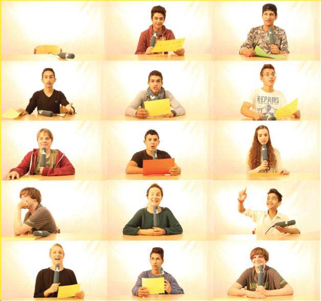 Collage - Schüler und Medien